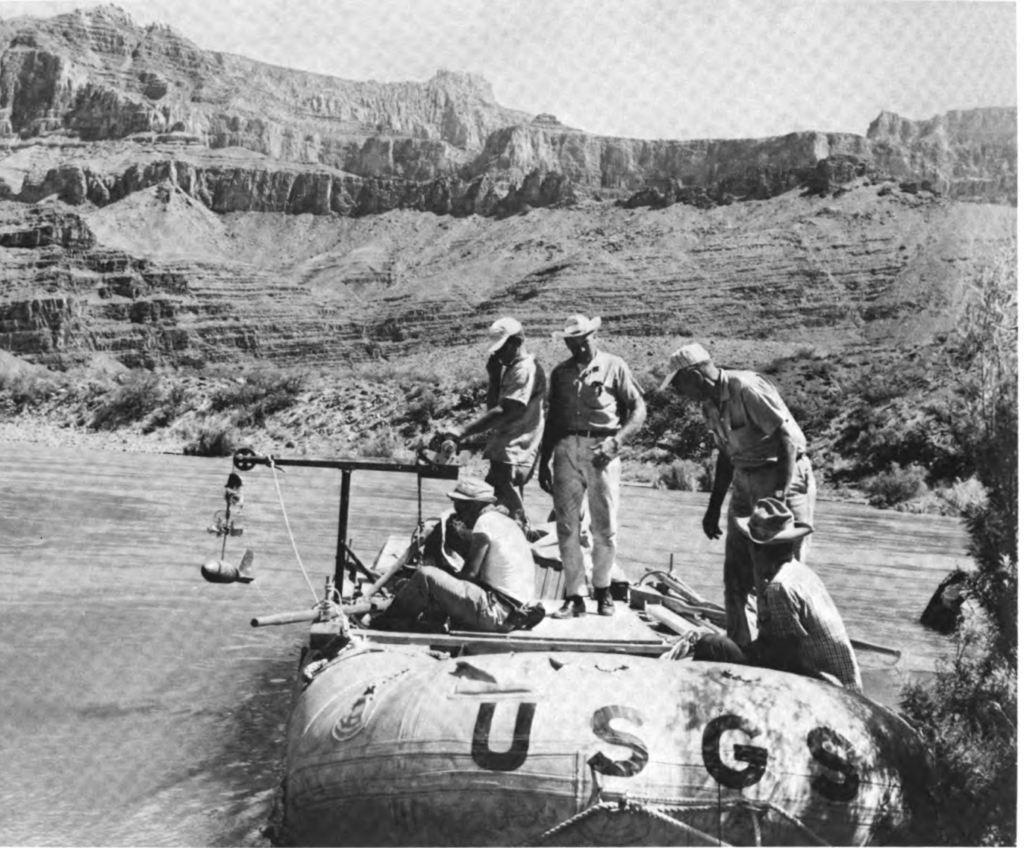 Luna Leopold leads expedition down the Colorado River